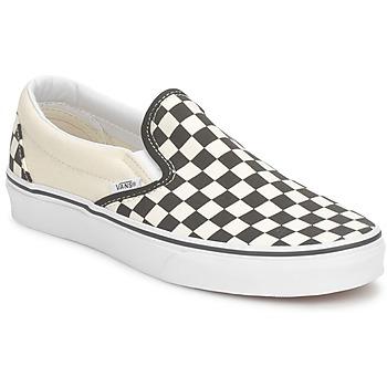 Schuhe Slip on Vans CLASSIC SLIP ON Schwarz / Weiss