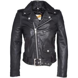 Vêtements Femme Vestes en cuir / synthétiques Schott PERFECTO FEMME   Black LCW 8600 Noir