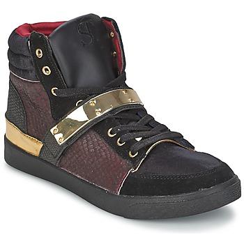 Scarpe Donna Sneakers alte SuperTrash GOLDY Bordeaux