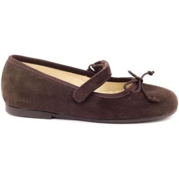 Chaussures Fille Ballerines / babies Boni & Sidonie Babies en cuir à Scratch - MARGUERITE Daim Marron