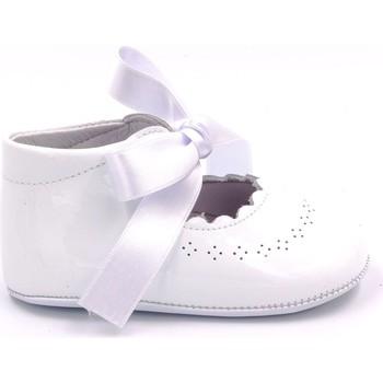 Chaussures Fille Chaussons bébés Boni & Sidonie Chausson en cuir vernis pour cérémonie - CLEMENCE Blanche
