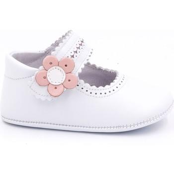 Chaussures Fille Chaussons bébés Boni & Sidonie Chaussons cuir souple - CHARLOTTE Blanche