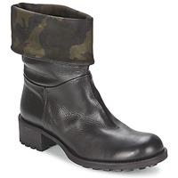 Schuhe Damen Boots JFK TARZAN Schwarz