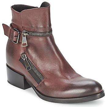 Schuhe Damen Low Boots Strategia ZOOLI Bordeaux