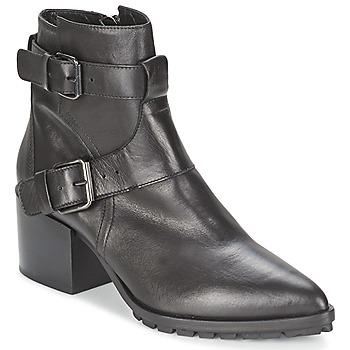 Schuhe Damen Low Boots Strategia FUCILE Schwarz