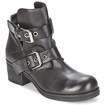 Schuhe Damen Low Boots Strategia CRECA Schwarz