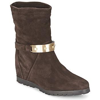 Chaussures Femme Bottines Alberto Gozzi VELOUR PEPE Marron