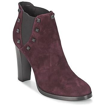Chaussures Femme Bottines Alberto Gozzi CAMOSCIO NEIVE Bordeaux