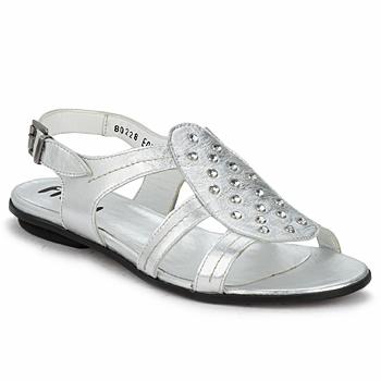 Schuhe Damen Sandalen / Sandaletten Fidji BARRETA Silber