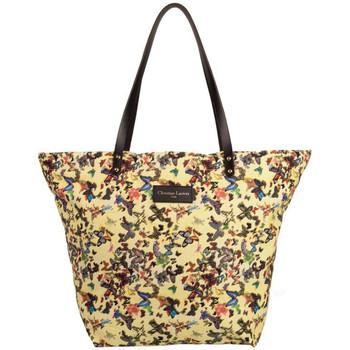 Sacs Femme Cabas / Sacs shopping Christian Lacroix Sac shopping  Eden 1 Papillon Jaune 4