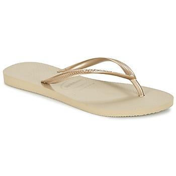 Schuhe Damen Zehensandalen Havaianas SLIM Goldfarben
