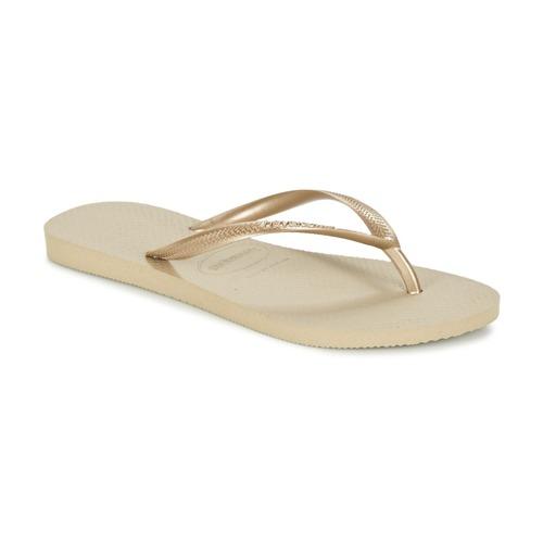 Schuhe Damen Zehensandalen Havaianas SLIM Golden