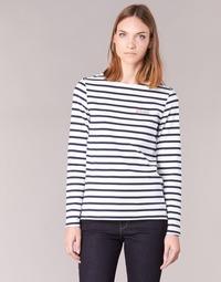 Abbigliamento Donna T-shirts a maniche lunghe Betty London IFLIGEME Bianco / Blu