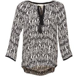 Kleidung Damen Tops / Blusen Stella Forest BTU010 Naturfarben / Schwarz