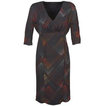 Kleidung Damen Kurze Kleider Antik Batik ORION Schwarz
