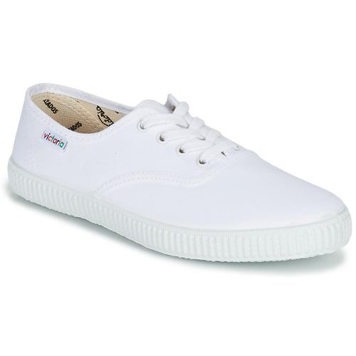 Schuhe Sneaker Low Victoria INGLESA LONA Weiß