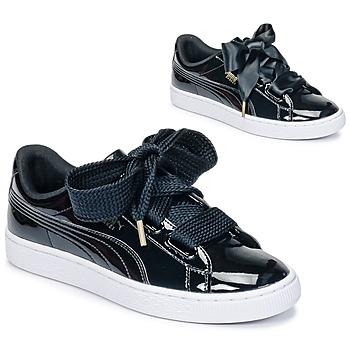 Scarpe Donna Sneakers basse Puma BASKET HEART PATENT WN'S Nero / Verni