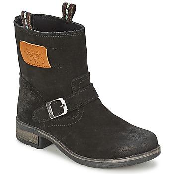 Chaussures Fille Boots Le Temps des Cerises JUNIOR ALOE Noir
