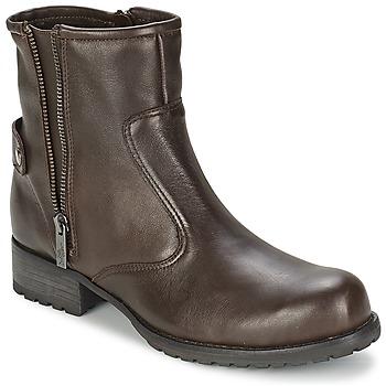 Schuhe Damen Boots One Step IAGO Schokobraun