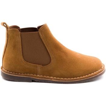 Chaussures Enfant Boots Boni & Sidonie Boots à enfiler en daim - BENOIT Daim Beige Foncé
