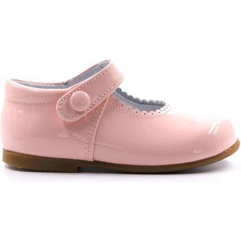 Chaussures Fille Ballerines / babies Boni & Sidonie Babies en cuir vernis à scratch - PRINCESSE II Rose