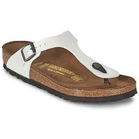 Schuhe Damen Zehensandalen Birkenstock GIZEH Weiß / Perlmutt
