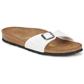 Schuhe Damen Pantoffel Birkenstock MADRID Weiss / Perlmut