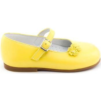 Chaussures Fille Ballerines / babies Boni & Sidonie Babies cuir à boucle - BOUTON D'OR Jaune
