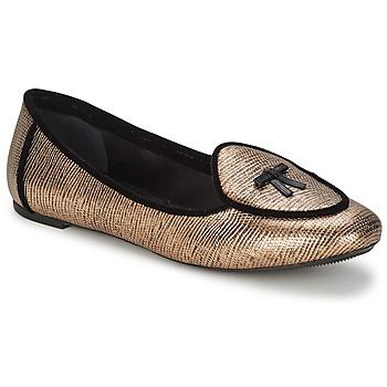 Schuhe Damen Ballerinas Etro 3078 Goldfarben