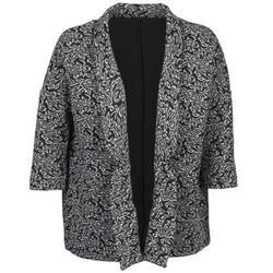 Kleidung Damen Jacken / Blazers Sisley FRANDA Schwarz / Grau