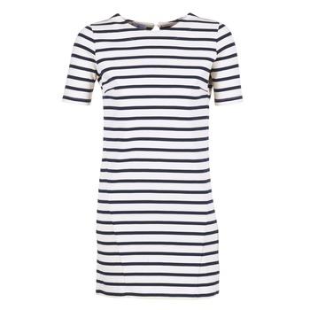 Abbigliamento Donna Abiti corti Loreak Mendian HAMABI Marine / Bianco