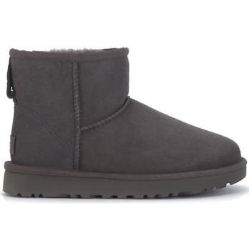 Chaussures Femme Boots UGG Demi-botte UGG Classic II Mini en chamois gris Noir