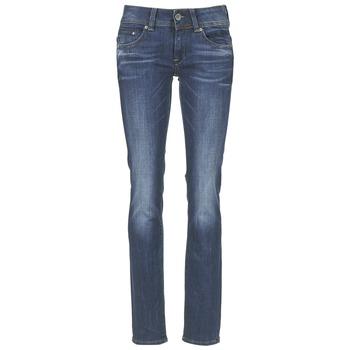 Kleidung Damen Straight Leg Jeans G-Star Raw MIDGE SADDLE MID STRAIGHT Paillettenschwarz