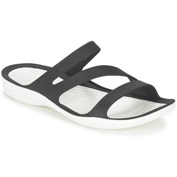 Scarpe Donna Sandali Crocs SWIFTWATER SANDAL W Nero / Bianco