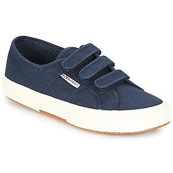 Schuhe Sneaker Low Superga 2750 COT3 VEL U Marineblau