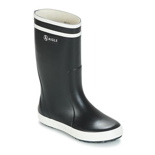 Chaussures Enfant Bottes de pluie Aigle LOLLY POP Marine / Blanc