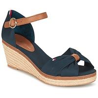 Chaussures Femme Sandales et Nu-pieds Tommy Hilfiger ELBA 40D Marine / Marron