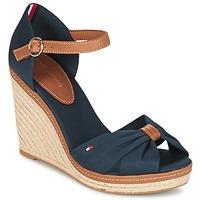 Schuhe Damen Sandalen / Sandaletten Tommy Hilfiger ELENA 56D Marineblau / Braun,