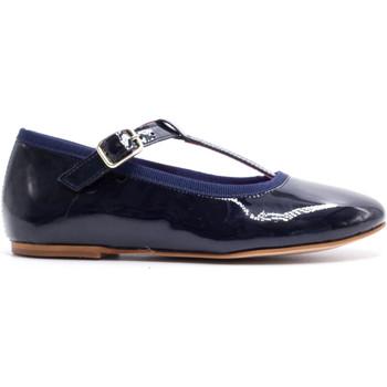 Chaussures Fille Ballerines / babies Boni & Sidonie Salome en cuir vernis à boucles - AURORE Bleu Marine