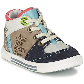 Chaussures Garçon Baskets montantes Catimini PIMENT Gris / Turquoise