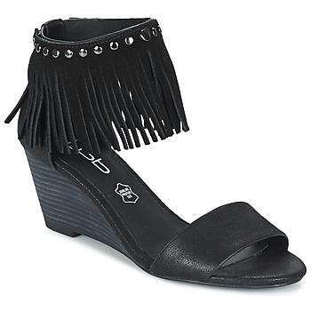 Schuhe Damen Sandalen / Sandaletten Les Petites Bombes NADIA Schwarz