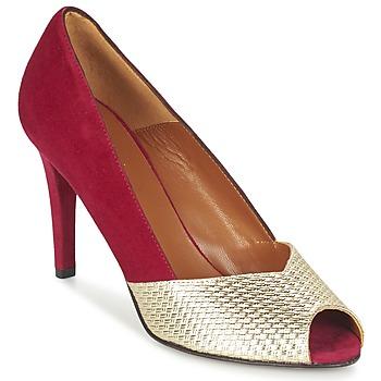 Chaussures Femme Escarpins Heyraud ELOISE Rouge / Doré