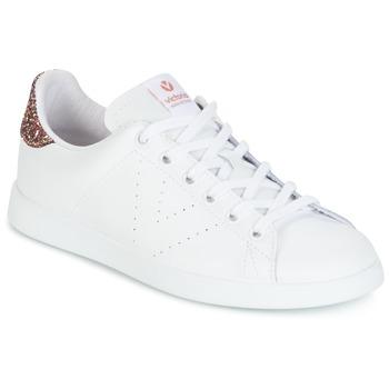 Chaussures Femme Baskets basses Victoria DEPORTIVO BASKET PIEL Blanc / Rose Glitter