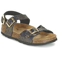 Chaussures Fille Sandales et Nu-pieds Betula Original Betula Fussbett JEAN Noir / Doré