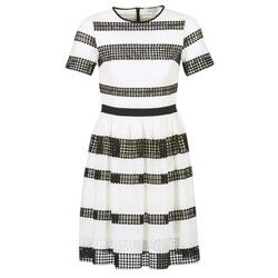 Vêtements Femme Robes courtes MICHAEL Michael Kors GRAPHIC CR STRIPE DRS Noir / Blanc