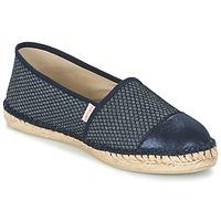 Schuhe Damen Leinen-Pantoletten mit gefloch Pare Gabia VP PREMIUM Marine
