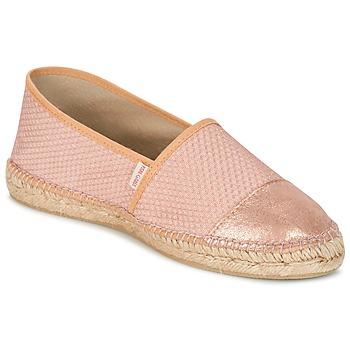 Schuhe Damen Leinen-Pantoletten mit gefloch Pare Gabia VP PREMIUM Rose