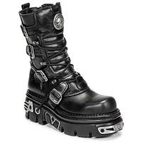 Schuhe Boots New Rock NEMESIS Schwarz