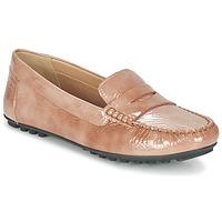 Schuhe Damen Slipper Geox D LEELYAN B Beige