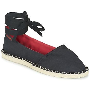 Schuhe Damen Leinen-Pantoletten mit gefloch Havaianas ORIGINE SLIM Schwarz